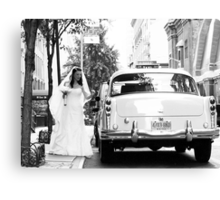 A Classic Bride in New York Canvas Print
