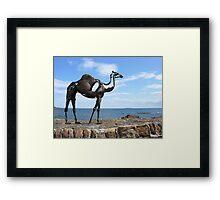 heavy metal camel Framed Print