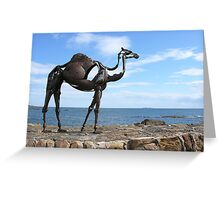 heavy metal camel Greeting Card