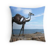 heavy metal camel Throw Pillow