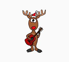 Cool Rudolph the Red Nosed Reindeer Playing Red Guitar T-Shirt