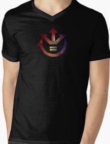 Galaxy Saiyan Crest Mens V-Neck T-Shirt