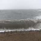 Angry Long Island sound during Hurricane Irene by kremphoto