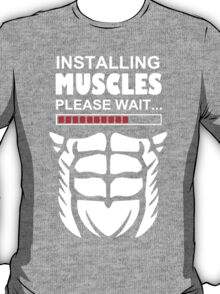 Installing muscles black T-Shirt