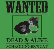 Wanted dead and alive schrodinger's cat Kids Clothes