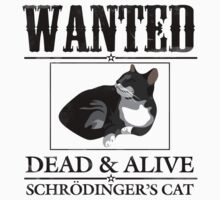 Wanted dead and alive schrodinger's cat Baby Tee
