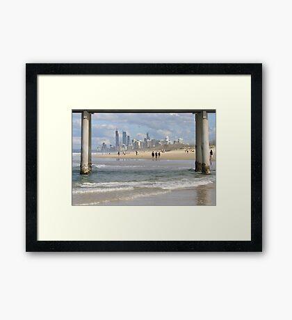Surfers Paradise Skyline Framed Print