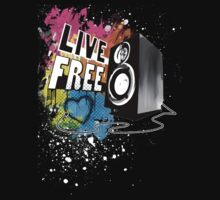 Live Free (Raw Black) Kids Tee