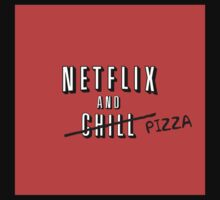 Netflix and Pizza One Piece - Short Sleeve