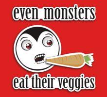 Monsters Eat Their Veggies (Little Drack) One Piece - Long Sleeve