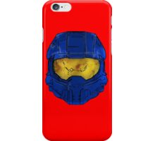 Blue Spartan Helmet iPhone Case/Skin