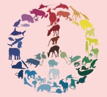 Animals of Peace Kids Clothes