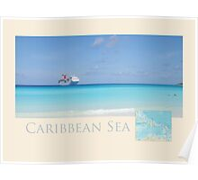 Caribbean Sea Travel Poster Poster