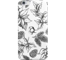 Christmas floral decor  iPhone Case/Skin