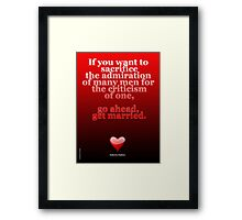 GET MARRIED ART Framed Print