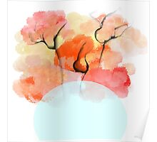 Abstract Flower Design Poster