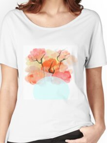 Abstract Flower Design Women's Relaxed Fit T-Shirt