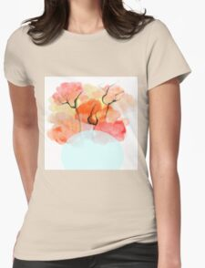 Abstract Flower Design Womens Fitted T-Shirt