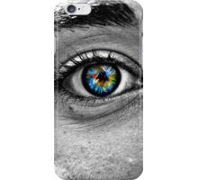 Black and White HDR Eye iPhone Case/Skin