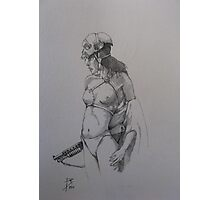 Sketch for Scull Photographic Print