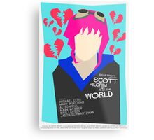 Scott Pilgrim Verses The World - Saul Bass Inspired Poster (Untextured) Metal Print