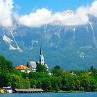 Lake Bled Church by Jeannie  Mazur
