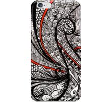 Peacock Line Art iPhone Case/Skin
