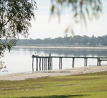 Pier at Lake Bonney, Barmera, SA by Cazzz