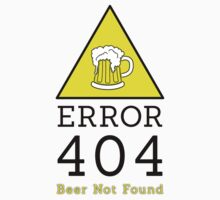 Error 404 beer not found by Stock Image Folio