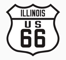 Route 66 Illinois Road Sign One Piece - Short Sleeve