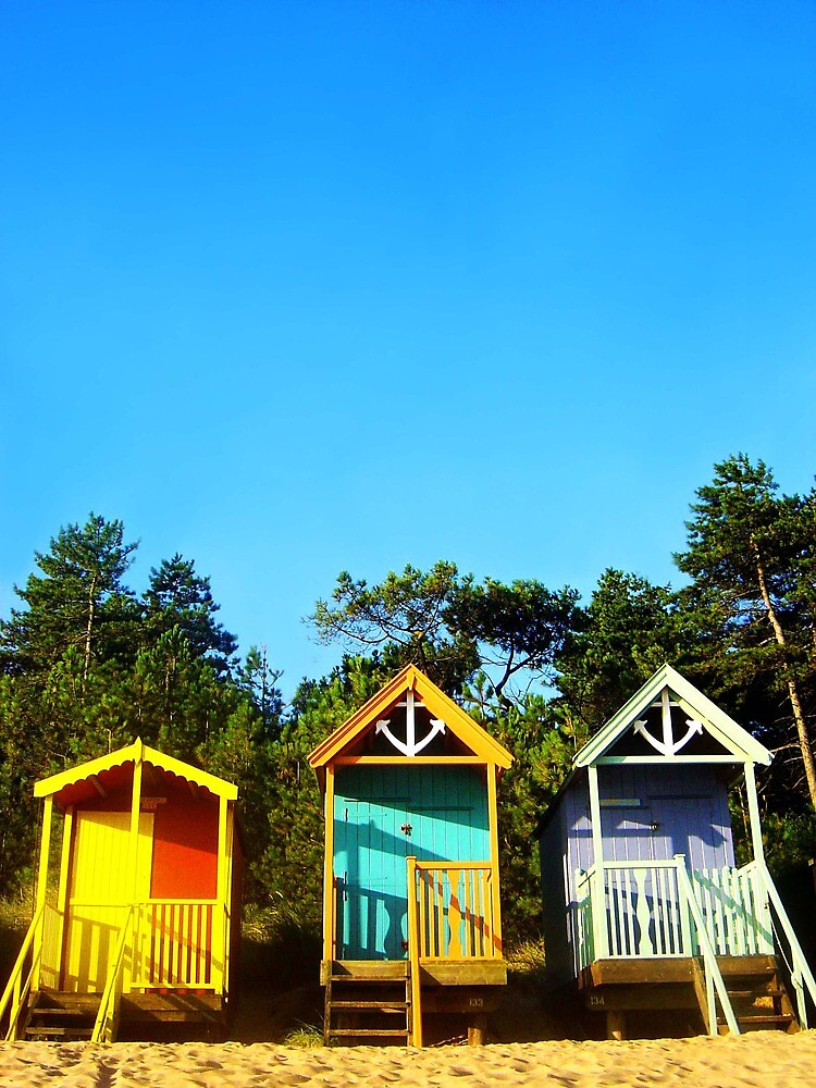 Beach Hut Summer by Reuben Vick