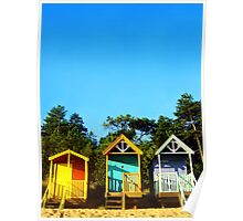 Beach Hut Summer Poster