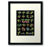 The Veggie Zombie Framed Print