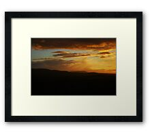 Sunset Skies over Edinburgh Framed Print