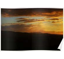 Sunset Skies over Edinburgh Poster