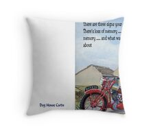 Three signs of getting old Throw Pillow