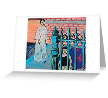 Woman and child with fence Greeting Card