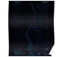 USGS Topo Map Oregon Dry Valley Rim 279712 1984 24000 Inverted Poster
