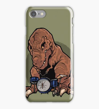 T-Rex playing the Drums iPhone Case/Skin