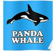 Panda Whale Poster