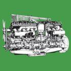 Rolls-Royce 40-50HP Engine by bachelorshall