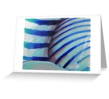 Shell Section - Cool Colours Greeting Card