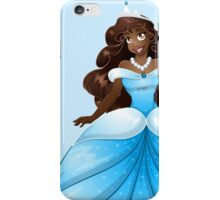 African Princess In Blue Dress iPhone Case/Skin