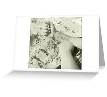 Hand to Sand Greeting Card