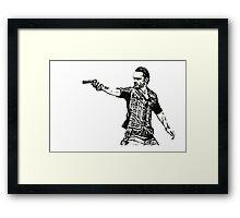 Rick Grimes Walking Dead  Framed Print
