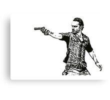 Rick Grimes Walking Dead  Canvas Print