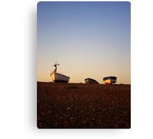 Boats at Sunrise - Cley, Norfolk Canvas Print