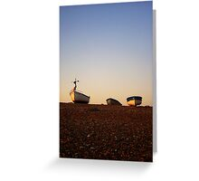 Boats at Sunrise - Cley, Norfolk Greeting Card