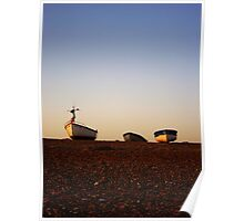 Boats at Sunrise - Cley, Norfolk Poster