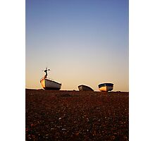 Boats at Sunrise - Cley, Norfolk Photographic Print